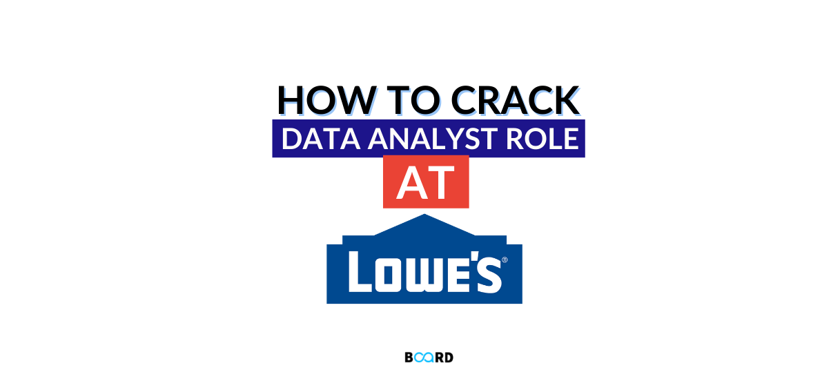 How to Crack Data Analyst Role at Lowe's