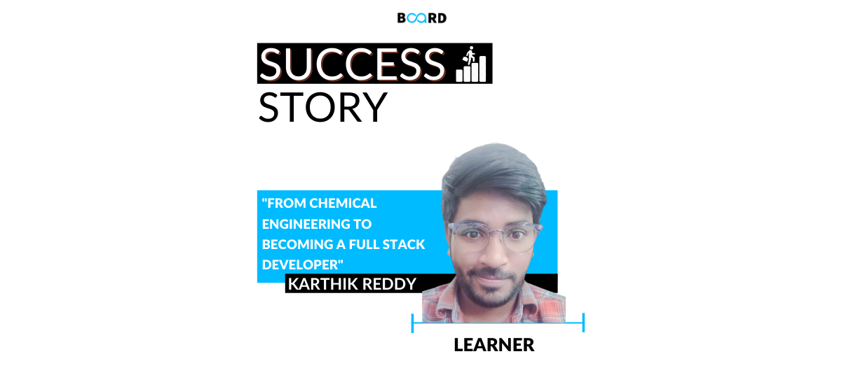 From B.Tech in Chemical Engineering to Fulfilling the dream of Becoming a Full Stack Developer