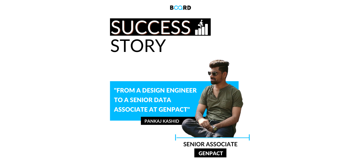 From A Design Engineer to a Senior Data Associate at Genpact