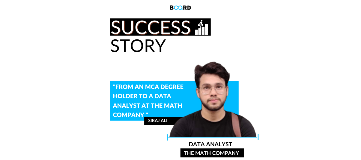 From an MCA degree holder to a Data Analyst at the Math Company